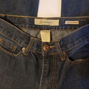 Slim Straight Vintage Jeans, Men/Teen 28/30